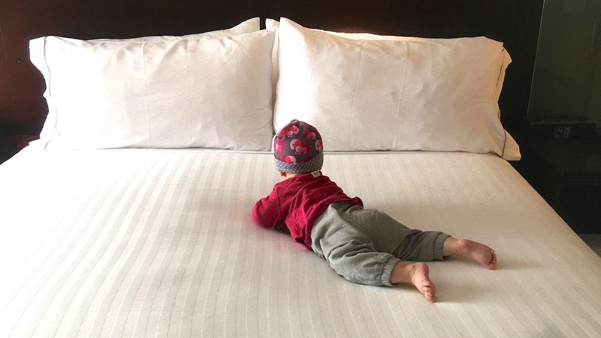 Hotelbett als Familienbett