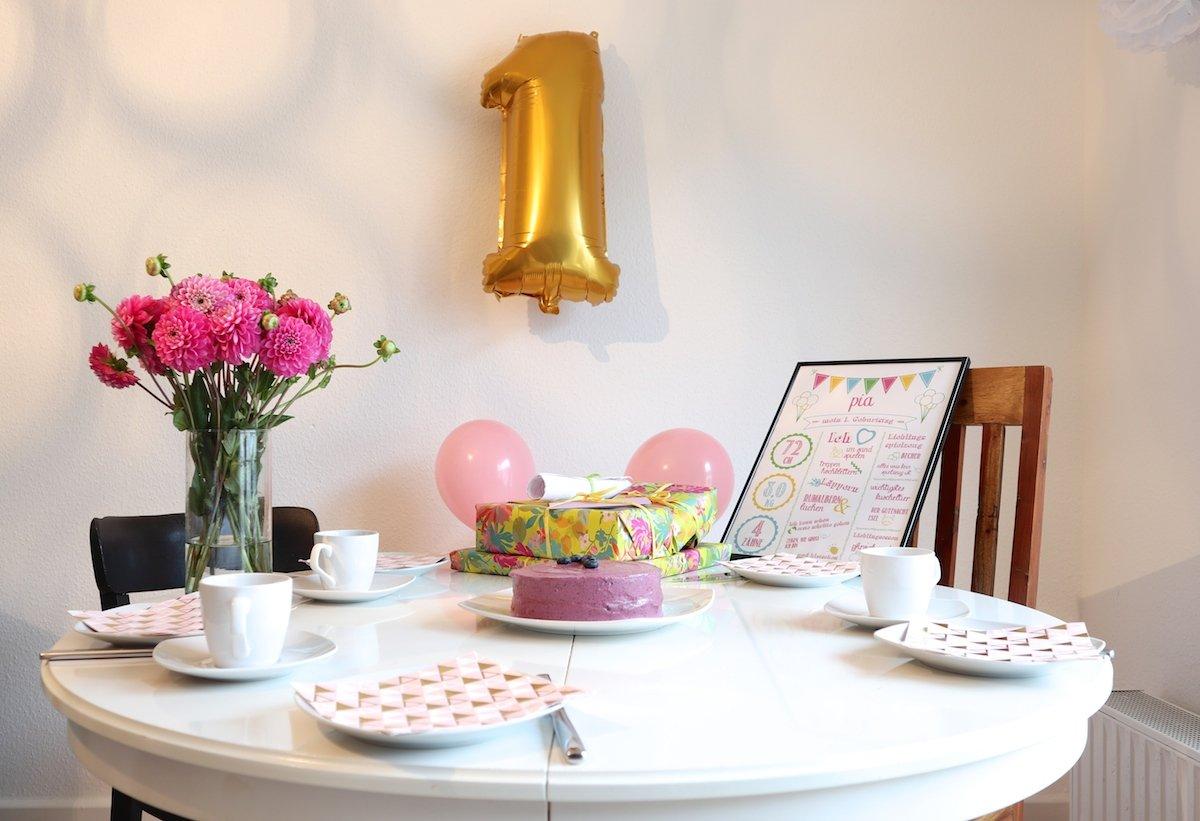 Geburtstagstisch zum 1.