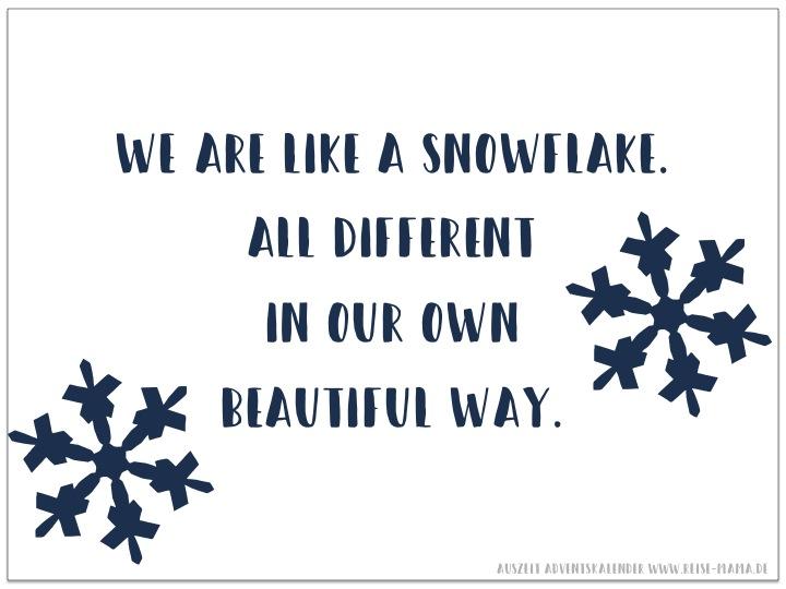 Auszeit Adventskalender Schneeflocken