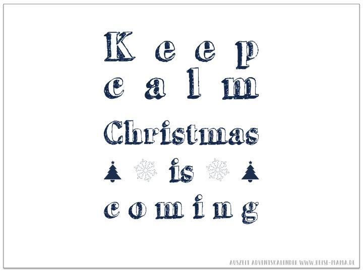 Keep Calm Weihnachten