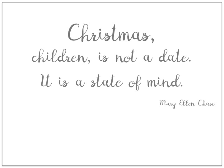 Weihnachten ist eine Einstellung