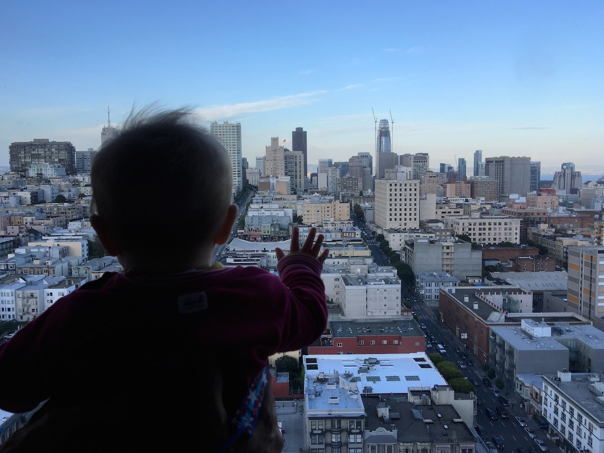 Baby über San Francisco