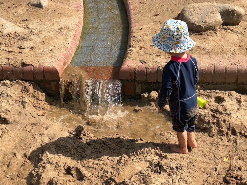 Wasserspielplatz für Sommertage