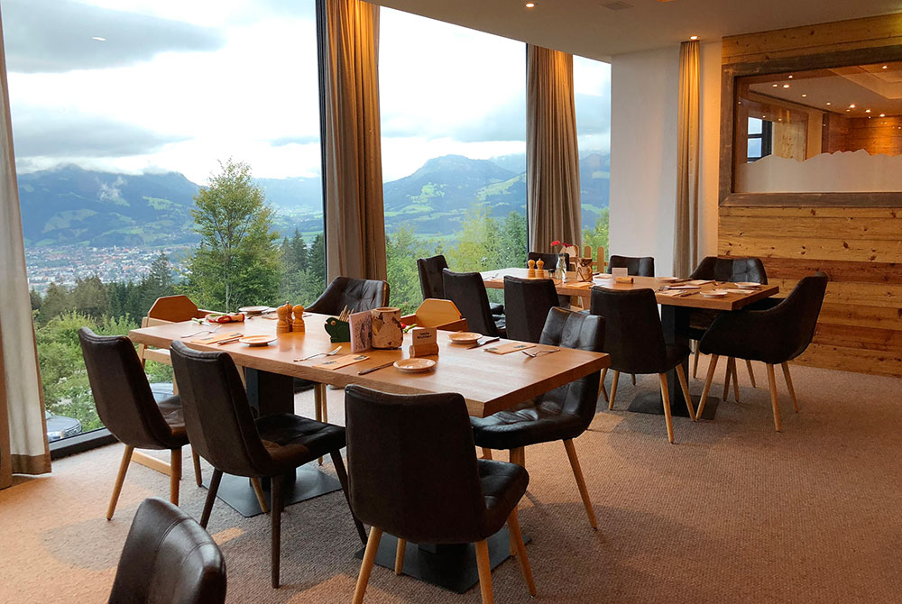 Familienhotel Bayern Restaurant mit Aussicht