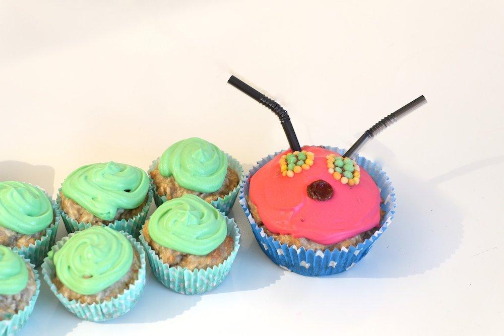 Kindergeburtstagskuchen Raupe Nimmersatt Muffins