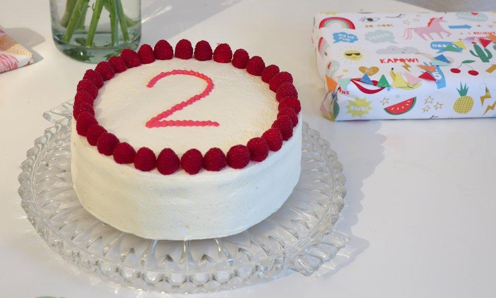 Kuchen zum 2. Geburtstag
