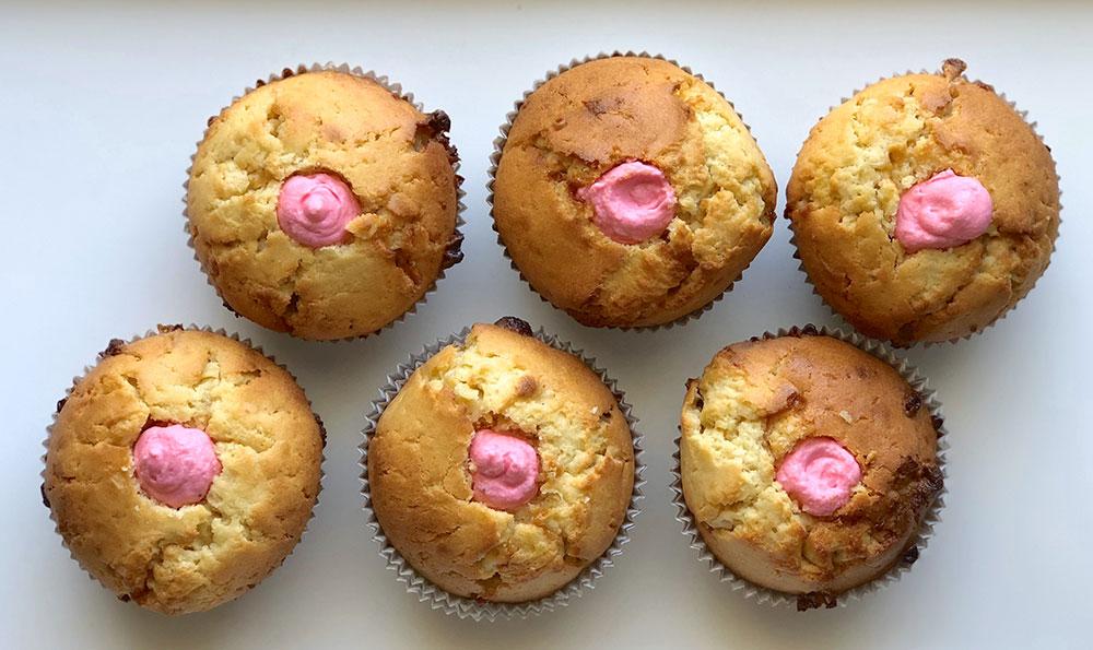 Gender Reveal Cupcakes gefüllt