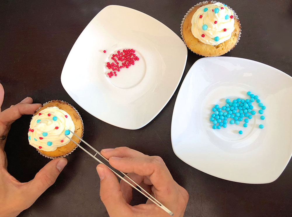 Gender Reveal Cupcakes verzieren