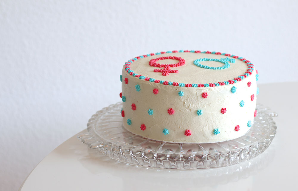 Gender Reveal Kuchen