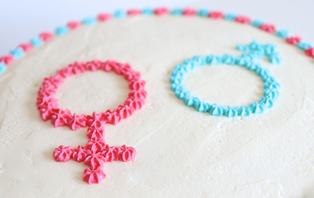 Gender Reveal Kuchen Aufschrift