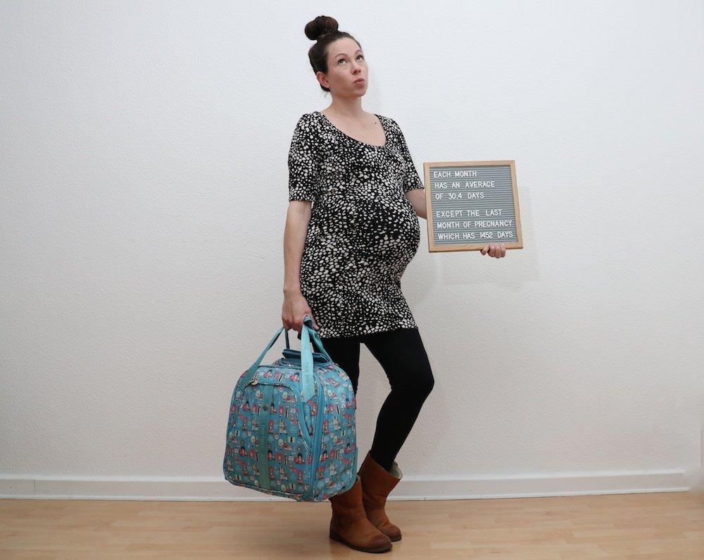 Schwangerschafts-Countdown letzter Monat