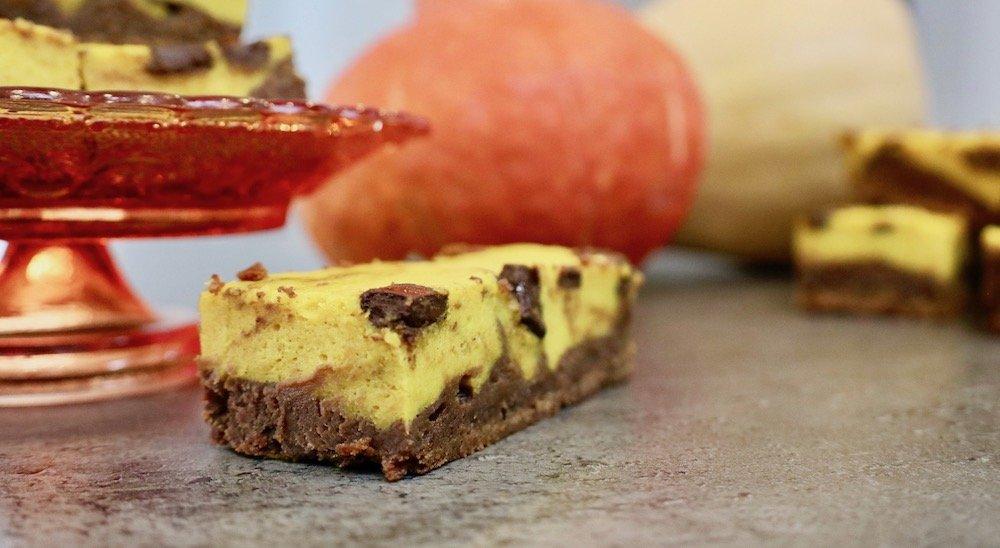 Kürbis-Schoko-Brownies Halloween