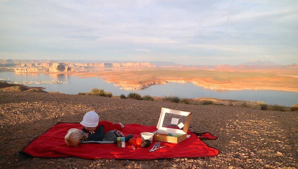 Geschenk für Reise-Familien Picknickdecke