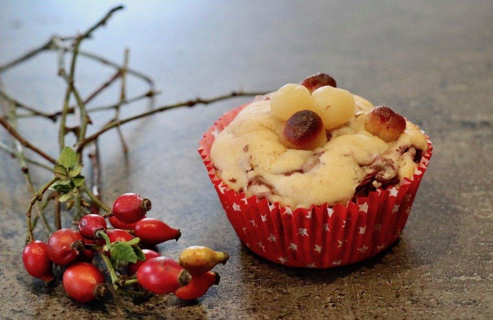 Marzipan-Kirsch-Muffins