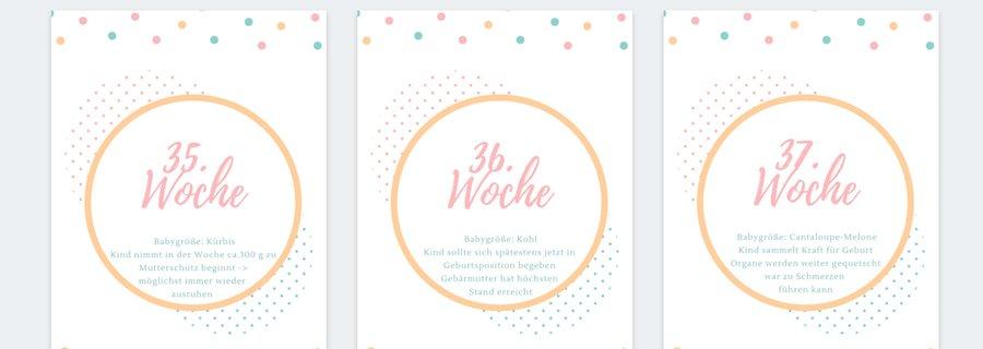 DIY Schwangerschaftskalender zum Ausdrucken