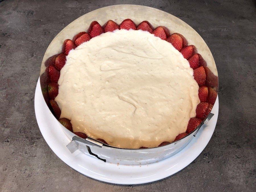 Erdbeeren-Torte Rezept Pudding-Creme