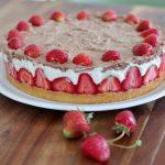 Erdbeer-Torte mit Vanillepudding und Schoko-Sahne |Rezept