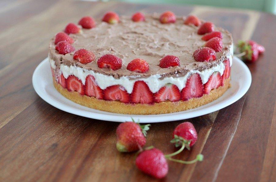 Erdbeeren-Torte Rezept