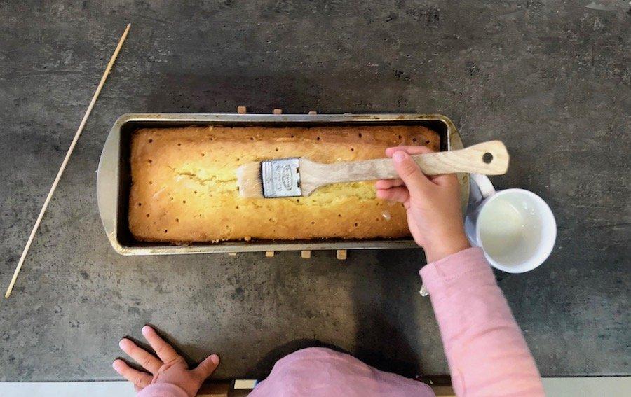 Einfacher Zitronenkuchen Glasur