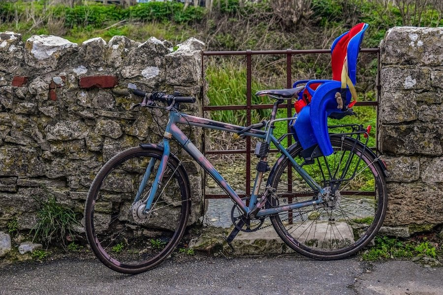 Fahrradanhänger oder Fahrradkindersitz