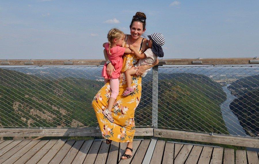 Baumwipfelpfad Saarschleife mit Kindern Ausflug