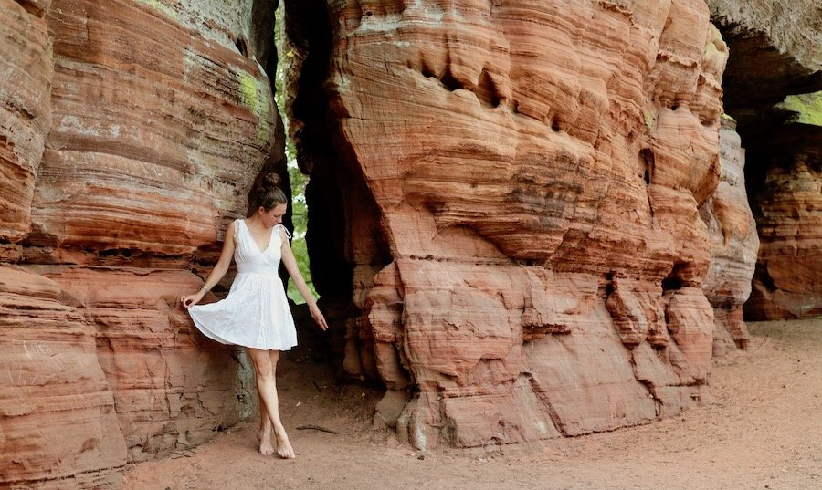 Altschlossfelsen Glühen Pfälzerwald Tipps Fotospot