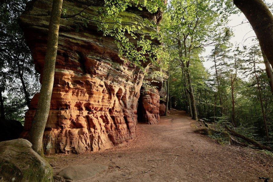 Altschlossfelsen Glühen Pfälzerwald Tipps Wanderung