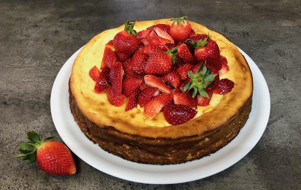Quark-Gries-Kuchen ohne Boden